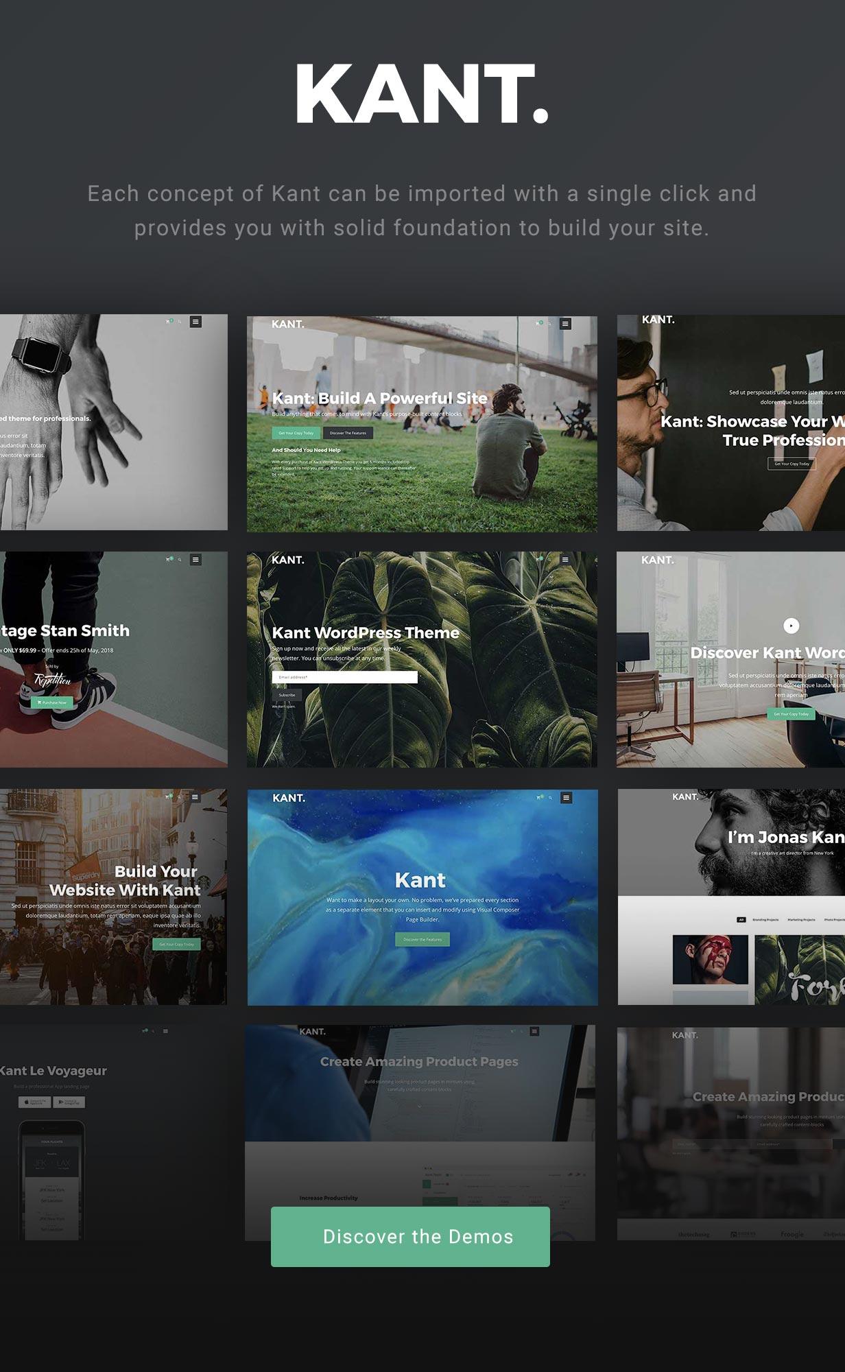 Kant - Ein Mehrzweck-WordPress-Theme für Startups, Kreative und Freiberufler - 1