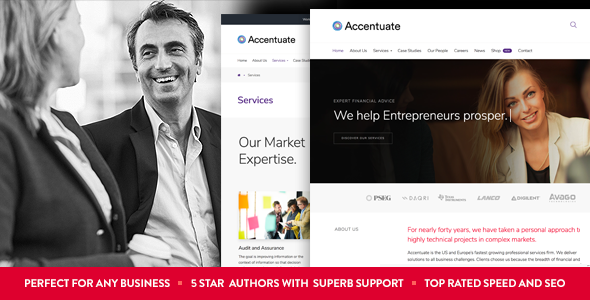 Wordpress Immobilien Template Accentuate - A Professional Consulting WordPress Theme