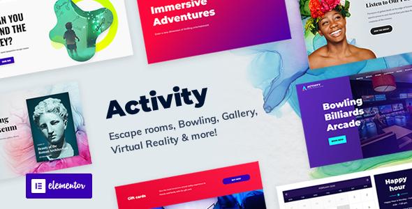 Wordpress Entertainment Template Activity - Booking WordPress Theme