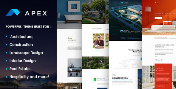 Wordpress Corporate Template Apex - Construction, Builders, Designers & Architects WordPress Theme