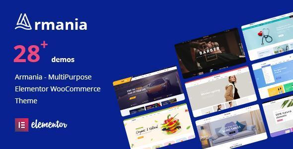 Wordpress Shop Template Armania - Elementor WooCommerce Theme