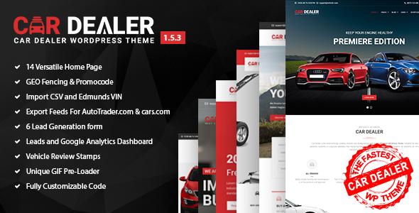 Wordpress Immobilien Template Car Dealer -  Automotive Responsive WordPress Theme