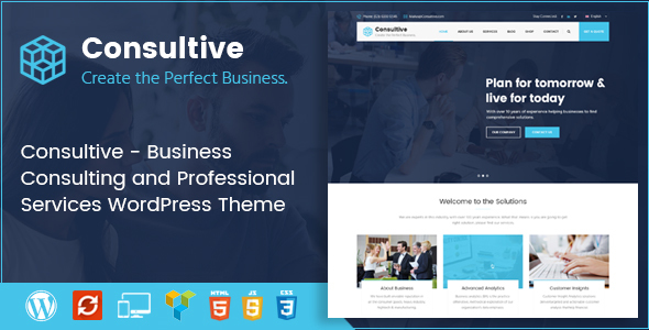 Wordpress Immobilien Template Consultive - Business Consulting and Professional Services WordPress Theme