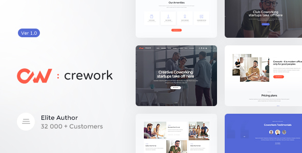 Wordpress Immobilien Template Crework   Coworking and Creative Space WordPress Theme