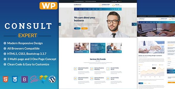 Wordpress Immobilien Template Consult Expert - Consulting
