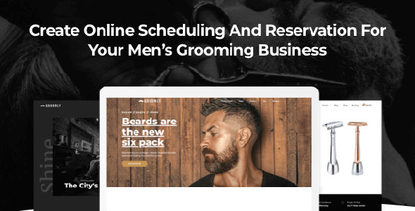 Wordpress Immobilien Template Groomly - Men's Grooming WordPress Theme