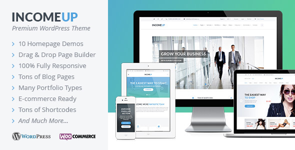 Wordpress Corporate Template IncomeUp - Multipurpose WordPress Theme