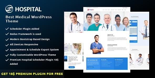 Wordpress Immobilien Template Hospital - Best Medical WordPress Theme