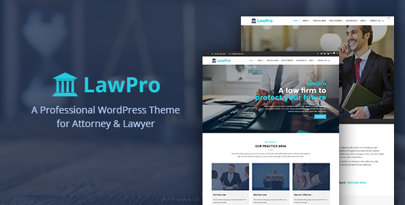 Wordpress Immobilien Template Lawpro - A Professional WordPress Theme for Attorney & Lawyer