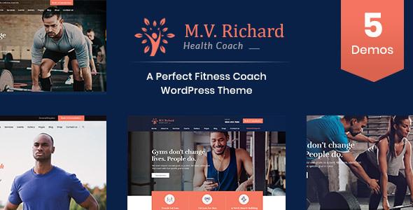 Wordpress Immobilien Template MV Richard - Health and Fitness WordPress Theme