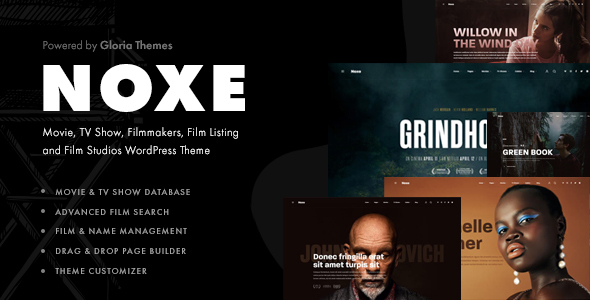 Wordpress Entertainment Template Noxe - Movie Studios and Filmmakers Theme