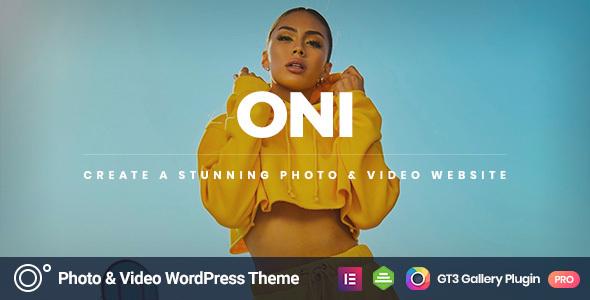 Wordpress Kreativ Template Oni - Photography