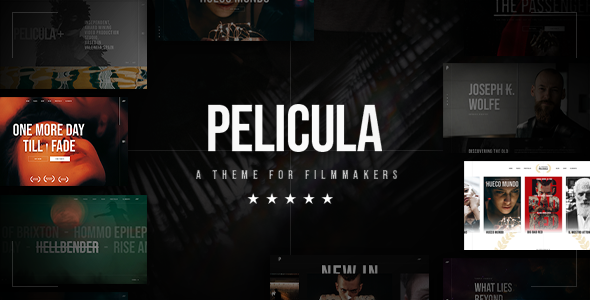 Wordpress Entertainment Template Pelicula - Video Production and Movie Theme