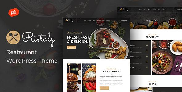 Wordpress Entertainment Template Ristoly - Restaurant WordPress Theme