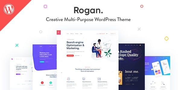 Wordpress Kreativ Template Rogan - Creative Multipurpose WordPress Theme for Agency, Saas, Portfolio