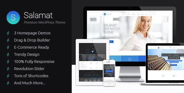 Wordpress Corporate Template Salamat - Multipurpose WordPress Theme