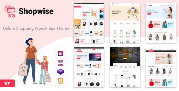 Wordpress Shop Template Shopwise - Fashion Store WooCommerce Theme