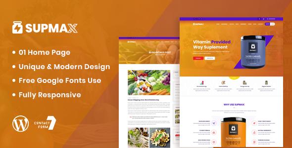 Wordpress Immobilien Template Supmax - Health & Supplement WordPress Theme