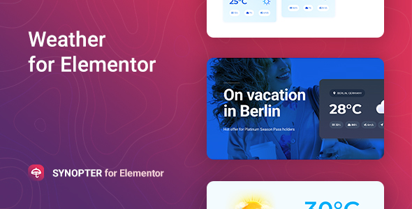 Wordpress Add-On Plugin Synopter – Weather for Elementor