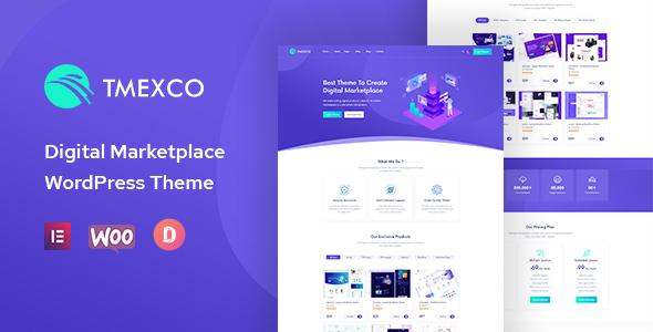 Wordpress Shop Template Tmexco - Digital Marketplace WooCommerce Theme