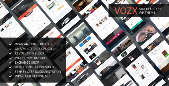Wordpress Corporate Template Vozx - Multipurpose & Event WordPress Theme