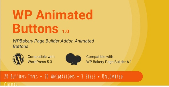 Wordpress Add-On Plugin WP Animated Buttons | WPBakery Button Addon