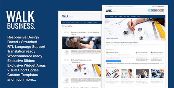 Wordpress Corporate Template Walk - Responsive Business WordPress Theme