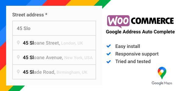 Wordpress E-Commerce Plugin WooCommerce Google Address Auto Complete