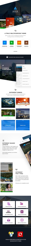 Apex - Bau, Bauherren, Designer & Architekten WordPress Theme - 1