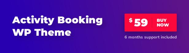Kaufen Sie Activity Booking WordPress Theme