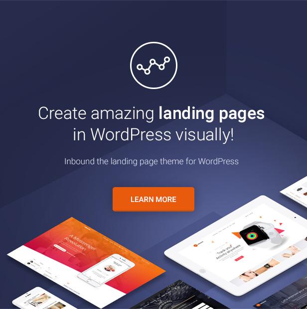 Inbound WordPress Landing Page Theme - Landing Pages, Landing Page, Produkt Landing Pages