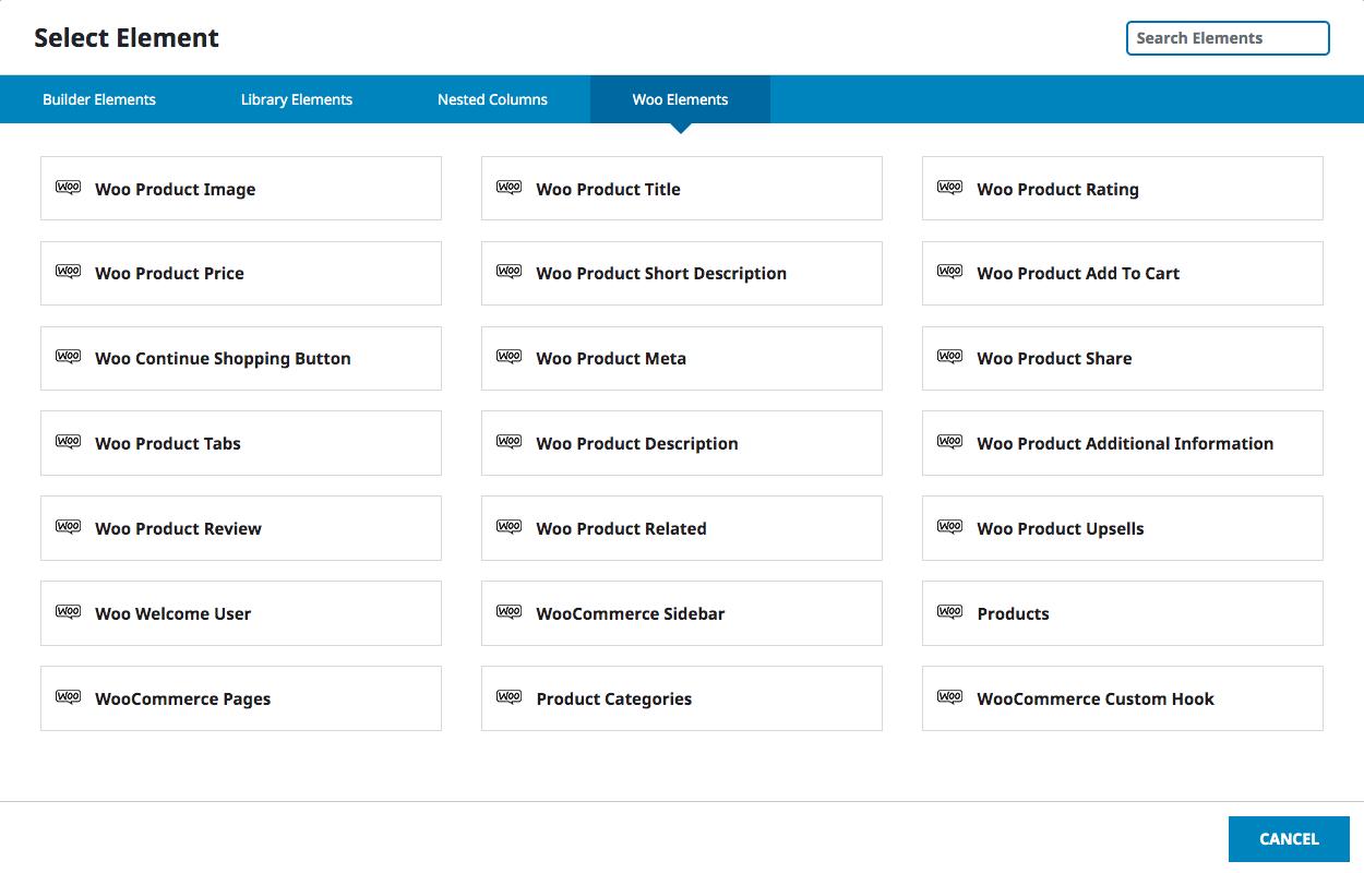 WooCommerce Page Builder für Avada - 1