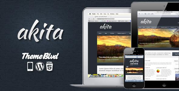 Wordpress Corporate Template Akita Responsive WordPress Theme