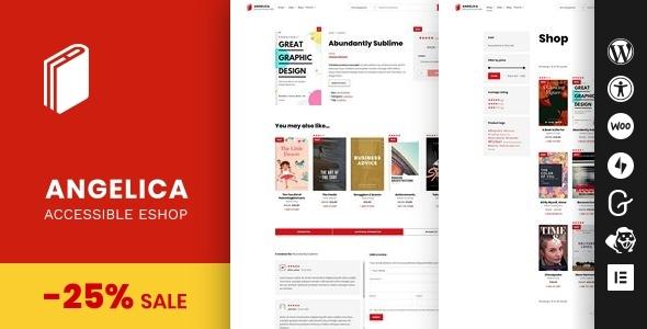 Wordpress Shop Template Angelica - Accessible Bookstore WordPress theme