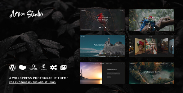 Wordpress Kreativ Template Arven - Photography