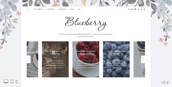 Wordpress Blog Template Blueberry - A Responsive WordPress Blog Theme