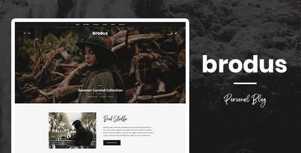 Wordpress Blog Template Brodus - Personal Blog WordPress Theme