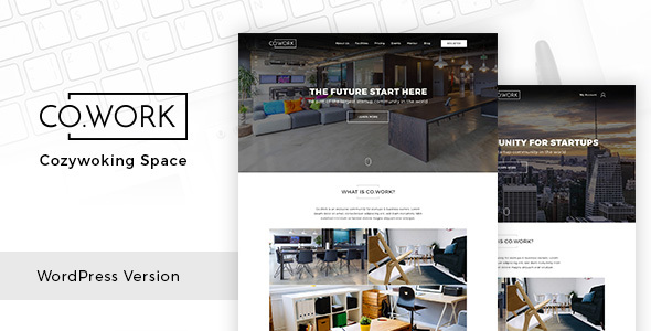 Wordpress Immobilien Template CoWork - Open Office & Creative Space WordPress Theme