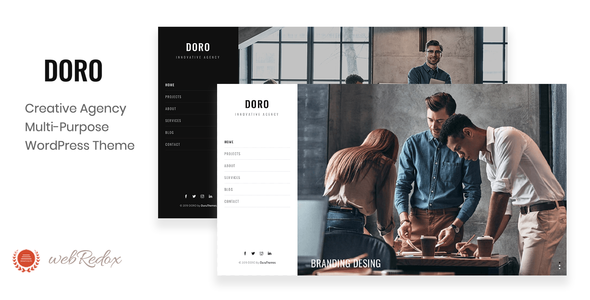 Wordpress Kreativ Template DORO - Creative Agency WordPress Theme