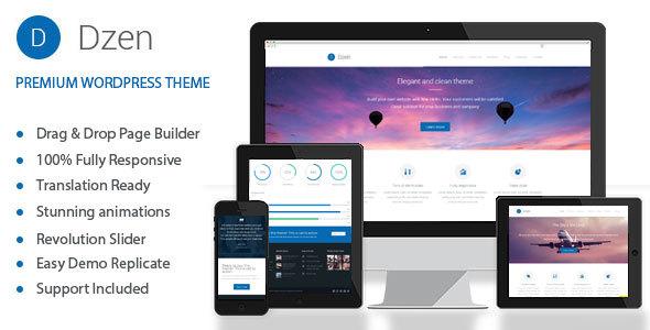 Wordpress Corporate Template Dzen - Multipurpose Business & Event WordPress Theme