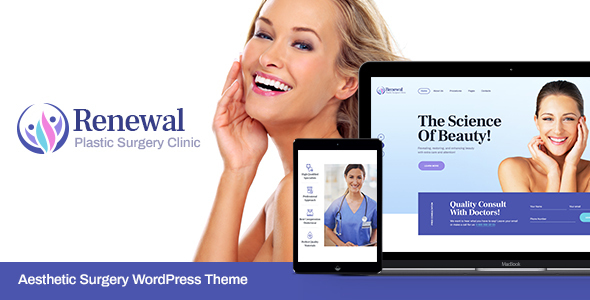 Wordpress Immobilien Template Renewal | Plastic Surgery Clinic Medical WordPress Theme