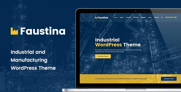 Wordpress Immobilien Template Faustina - Industrial WordPress Theme