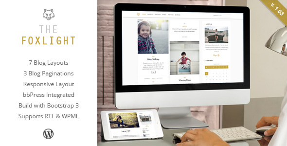 Wordpress Blog Template Foxlight - WordPress Personal Blog Theme