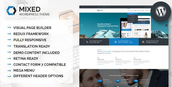 Wordpress Corporate Template Mixed - Modern and Professional WordPress Theme