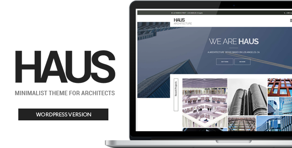 Wordpress Corporate Template Haus - Architecture Theme for Architects