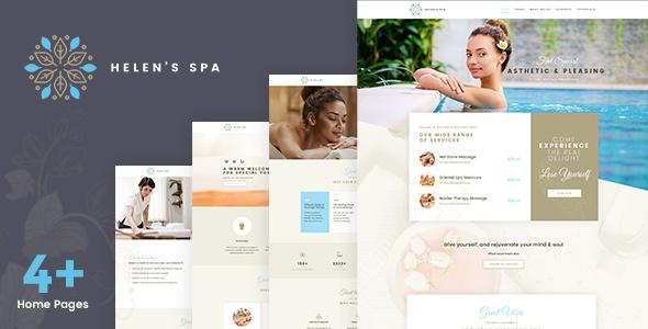 Wordpress Immobilien Template Helen Spa - Beauty Cosmetic Theme