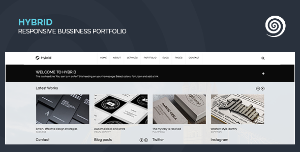 Wordpress Kreativ Template Hybrid - Corporate & Creative WordPress Portfolio