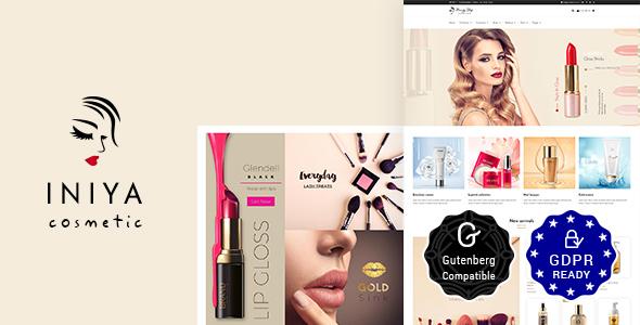 Wordpress Immobilien Template Iniya - Beauty Store, Cosmetic Shop WordPress Theme