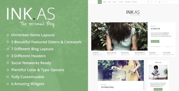Wordpress Blog Template Inkas - The Personal Blog WP Theme