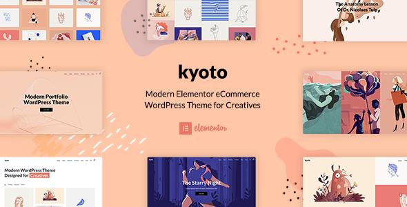 Wordpress Kreativ Template Kyoto - Innovative Portfolio Theme for Creatives